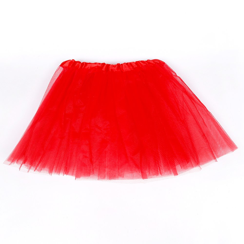 QEES Yellow Tutu Skirt Girl Women Black White Lovely Triple Layered Tulle TWQ03