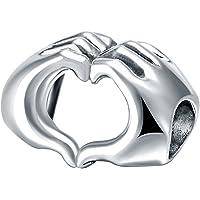 CHANGEABLE Charms et perles pour femme argent 925 coeur aimant