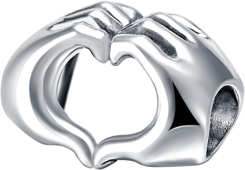 Changeable Charms Bead Da Donna Argento Sterling 925 Cuore Che Ama Taotaohas Amazon It Gioielli