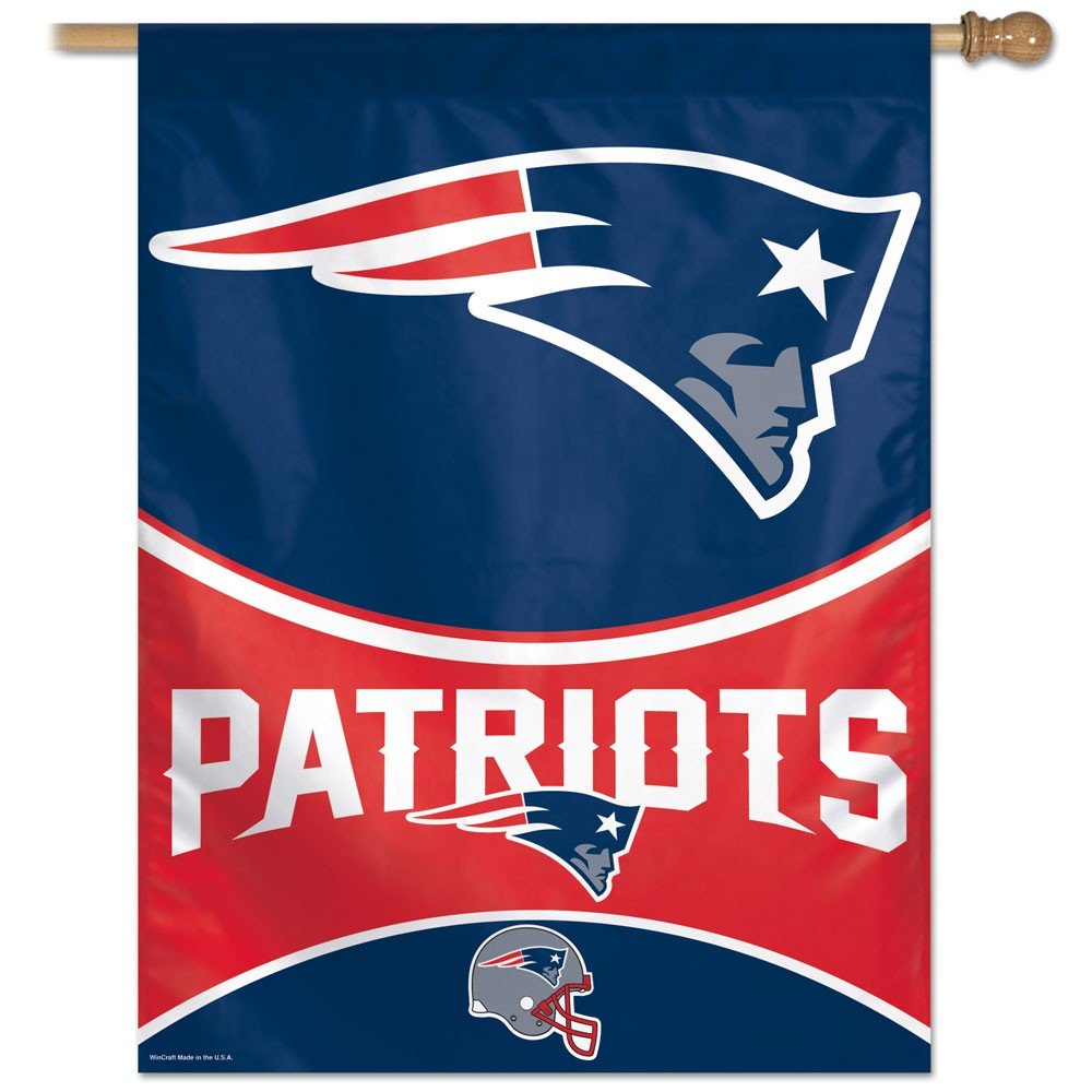 Team Colors New England Patriots Vertical Flag 28 Inches x 40 Inches Wincraft