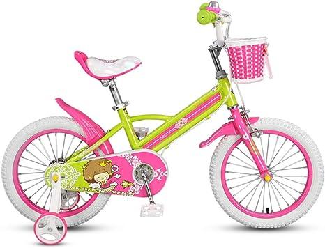 YUMEIGE Bicicletas Infantiles Bicicletas para niños, Bicicleta de Entrenamiento para niños Rueda de 14 Pulgadas para niños y niñas, Adecuada para niños Aged3-5 Verde ...