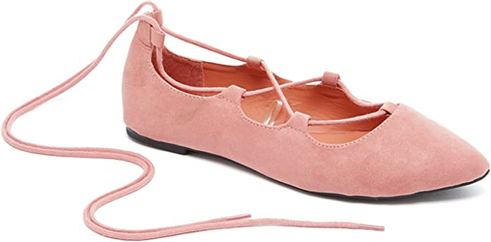 Charles Albert Womens Pointed Toe Casual Ballet Flats in Cognac Size 9