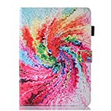 iPad 9.7 Inch Case - Candy-Cases(TM) PU Leather [Pencil Holder] Smart Stand Flip Cover with Auto Sleep Wake Card Slots for Apple iPad Air Air 2 iPad 9.7 Inch 2018 2017 (Tie Dye)