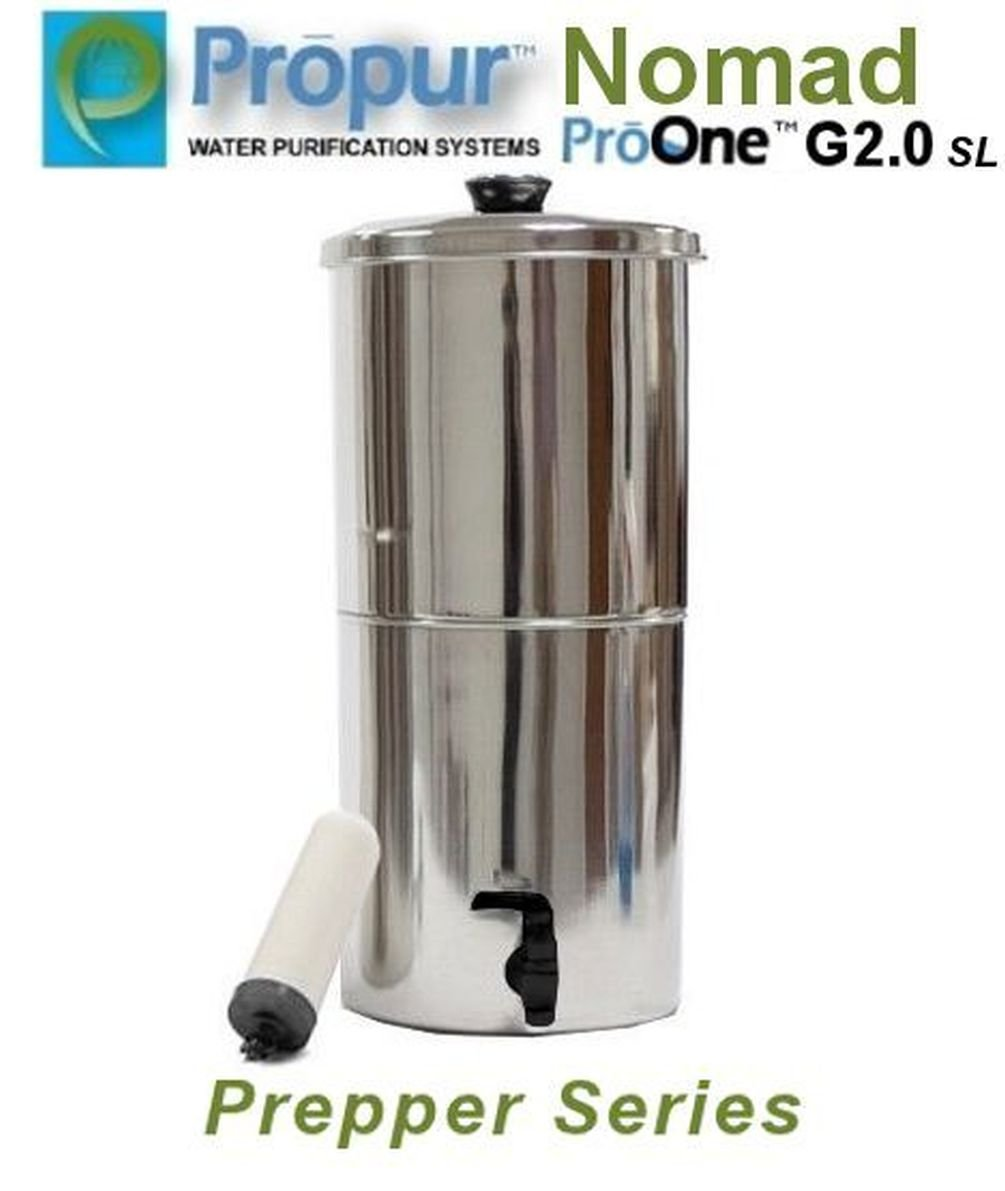 Onermade ProPur NOMAD Water Filter Prepper Series System + 1 ProOne G2.0 SL 5'' Filter
