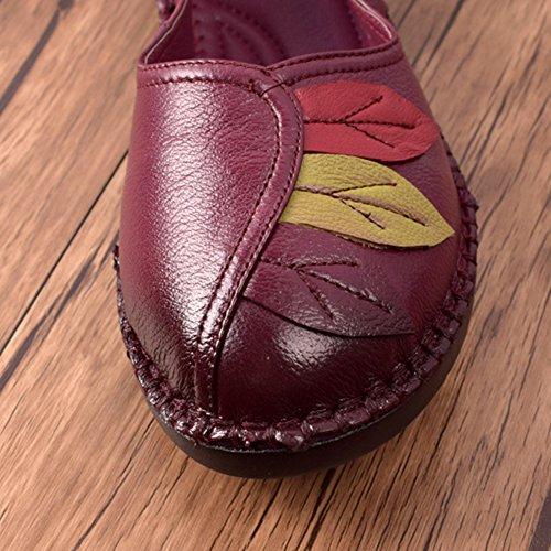 Btrada Vrouwen Comfortabele Loafers Penny Schoenen Kleurrijke Blad Rijden Mocassins Casual Slip-on Boot Platte Schoenen Paars