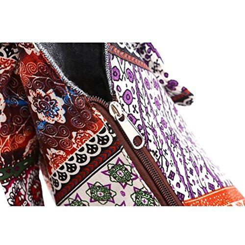 gran bandolera OULII Floral mujeres Estilo de las bolsos Soulder tailandés impresión zgvxCOzq