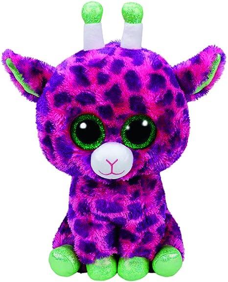 TY T99989 Gilbert - Jirafa con Ojos Brillantes (72 cm), Color Rosa y Morado: Amazon.es: Juguetes y juegos
