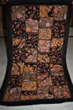 India Wall Hanging Beaded Vintage Sari Patchwork Tapestry Throw 78