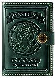 Villini - Leather RFID Blocking US Passport Holder Cover ID Card Wallet - Travel Case (Green)