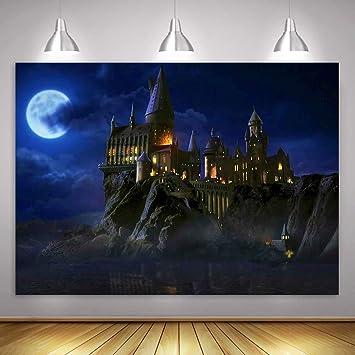Amazon Com Mme Magic Castle Witch Wizard Hogwarts Backdrop