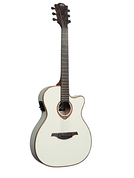 Guitarra electro-acustica lag auditorium (slim line) ivorie ...