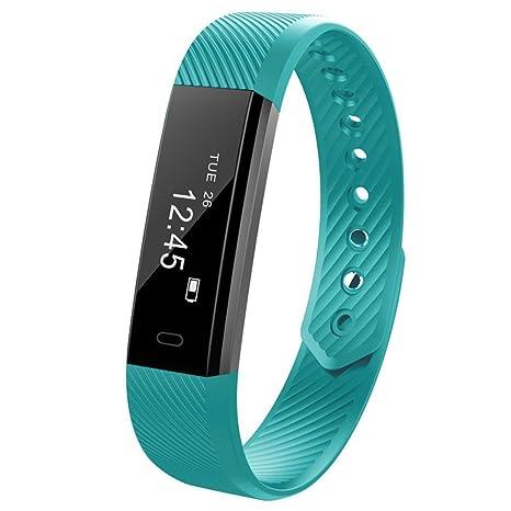 Cebbay Reloj Inteligente Bluetooth 4.0 Impermeable y Resistente al Sudor Pulsera Podómetro Reloj Deportivo Reloj electronico