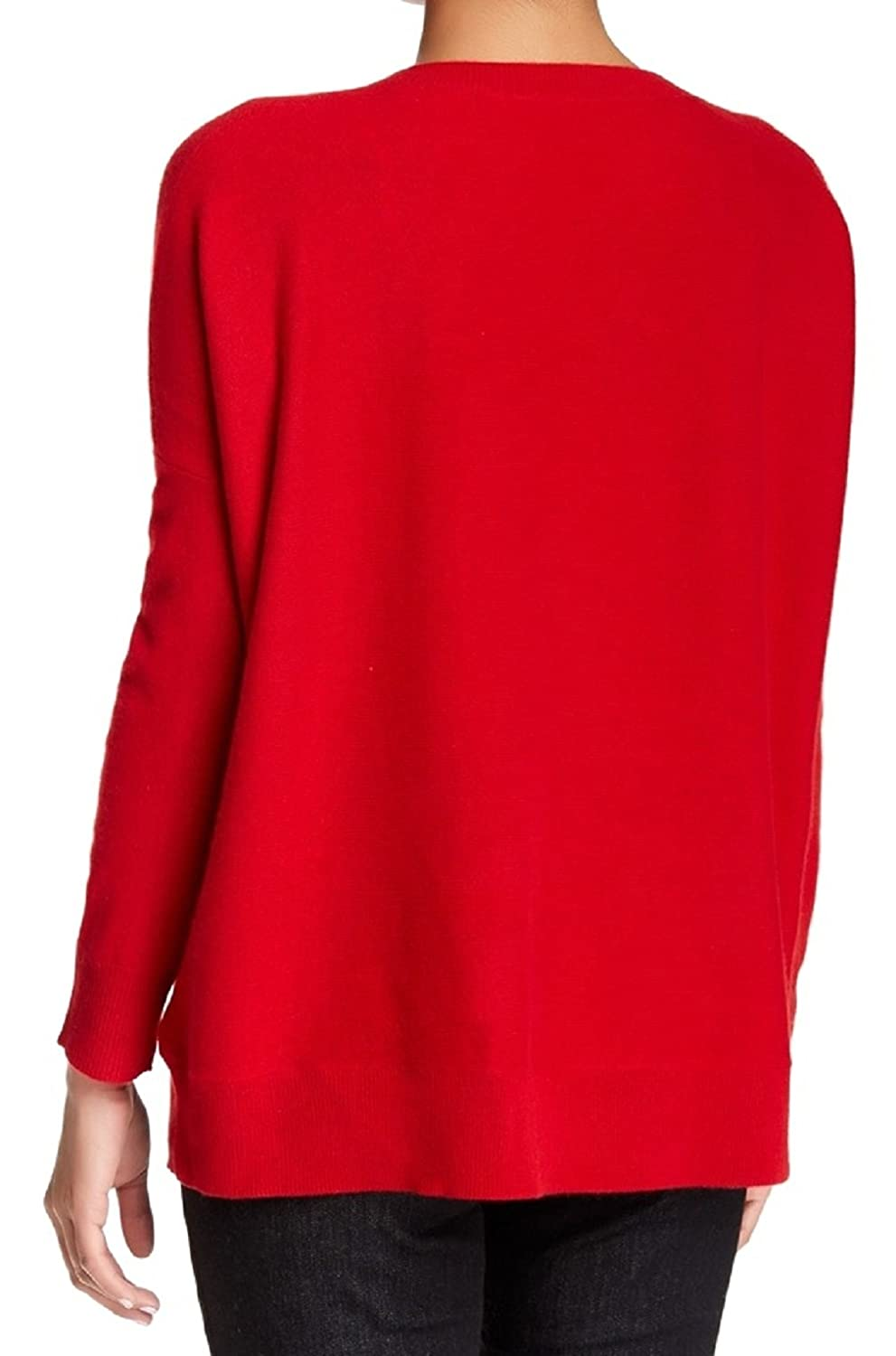 Eileen Fisher Ballet Neck Cashmere Sweater Petite Large, Lacquer