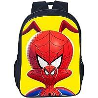 """Mochila de Estudiante,Bolso de Escuela del Patrón de Spiderman del Personaje de Dibujos Animados 3D Bolsa de Deportes Ligera de gran Capacidad para Niños y Niñas Bolsa de Ordenador Portátil de 16 """""""