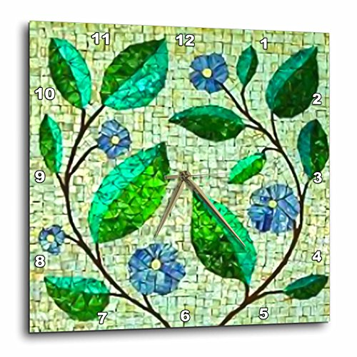 Lee Hiller Designs Mosaic Tiles - Blue Yellow Green Yellow Glass
