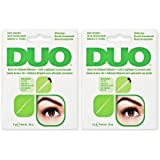 DUO Brush-On Lash Adhesive with Vitamins A, C & E, Clear, 0.18 oz, 2-Pack