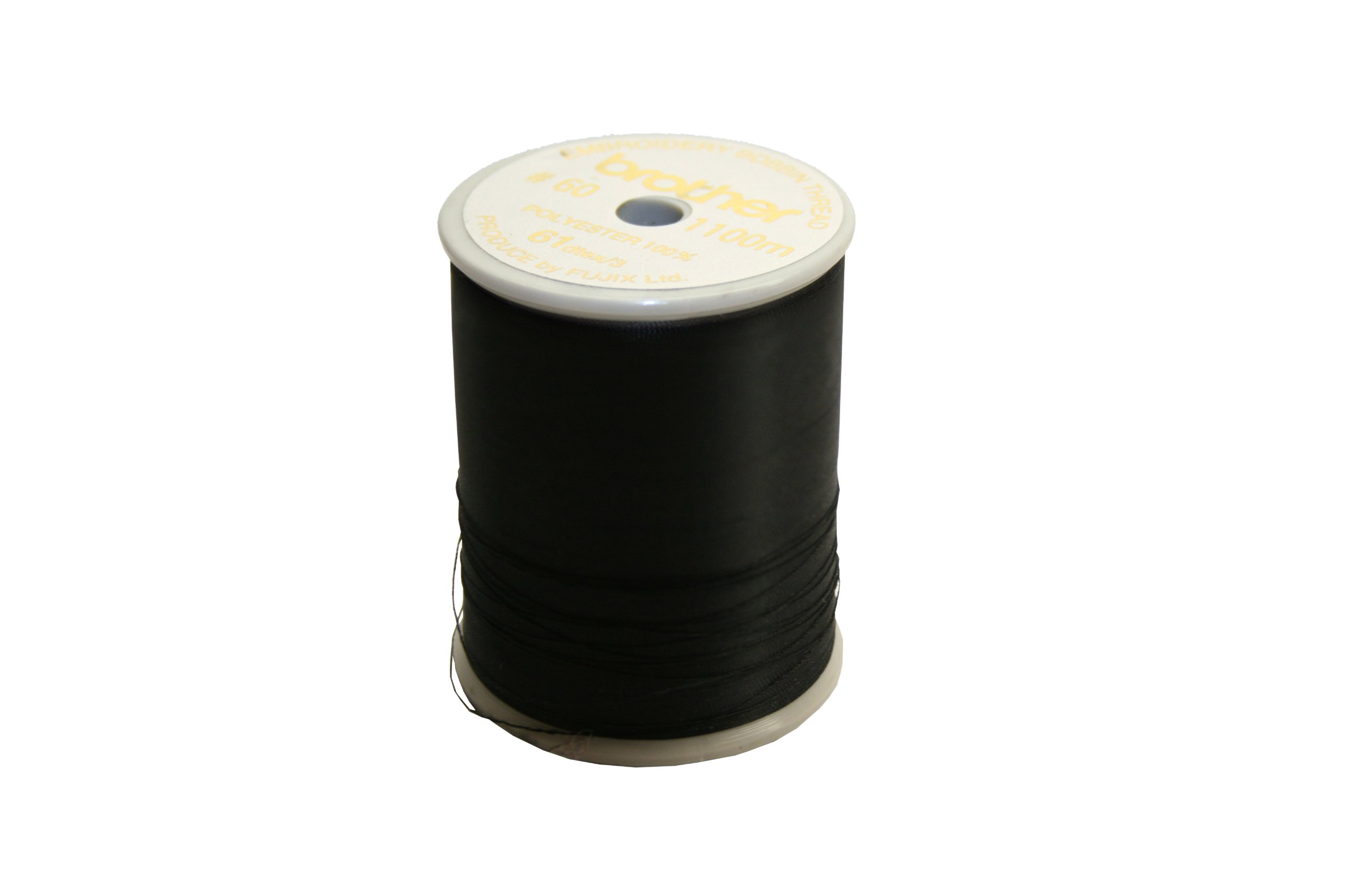Brother 5 Pack SAEBT999 Embroidery Thread, Black, 60 Weight by Brother