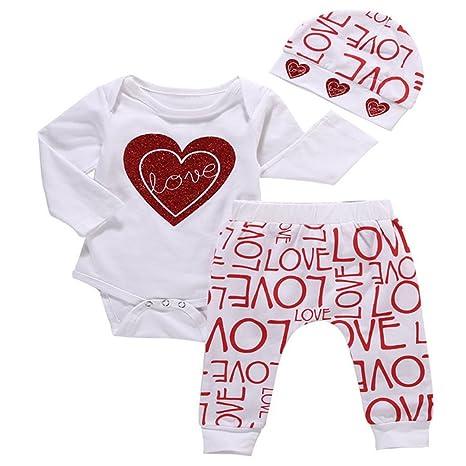 sukisuki bebé manga larga ropa Set, letras impreso Toddler Bebé Niñas Pelele Jumpsuits Navidad trajes