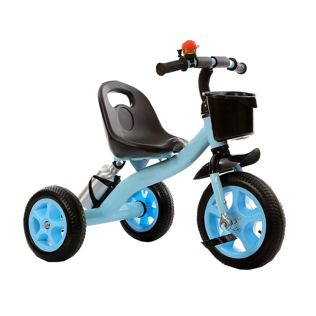 NBgy Dreirad, Dicker Rahmen, Multifunktions-Dreirad Tragbar Mit Flaschenhalter, 2-6-jähriges Baby Im Freien Dreirad, 2 Farben, 71x58x38cm Blau