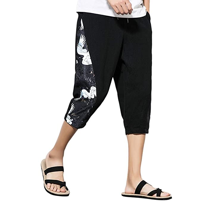 Zhuhaitf Hip Hop Pantaloni Aladin Baggy Pantaloni Harem-Uomo Donna Pantaloni  alla Turca Cotone Lino Pantaloni Larghi Boho Casual Pants  Amazon.it  ... e5821035a58d