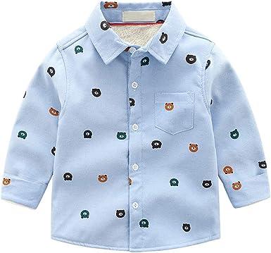 Phorecys - Camisa térmica con Forro Polar para niño: Amazon.es: Ropa y accesorios