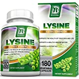 BRI Nutrition L-Lysine 180 Servings Per Bottle - Super 500mg Veggie Capsules