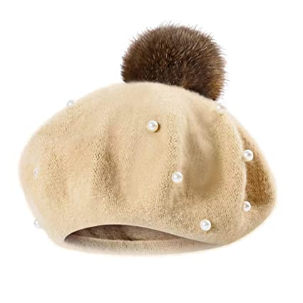 3c8305f75a9 Image Unavailable. Image not available for. Color  Yesyes Kids Toddler Baby  Boys Girls Pearly Ball Beanie Winter Warm Hat Cap