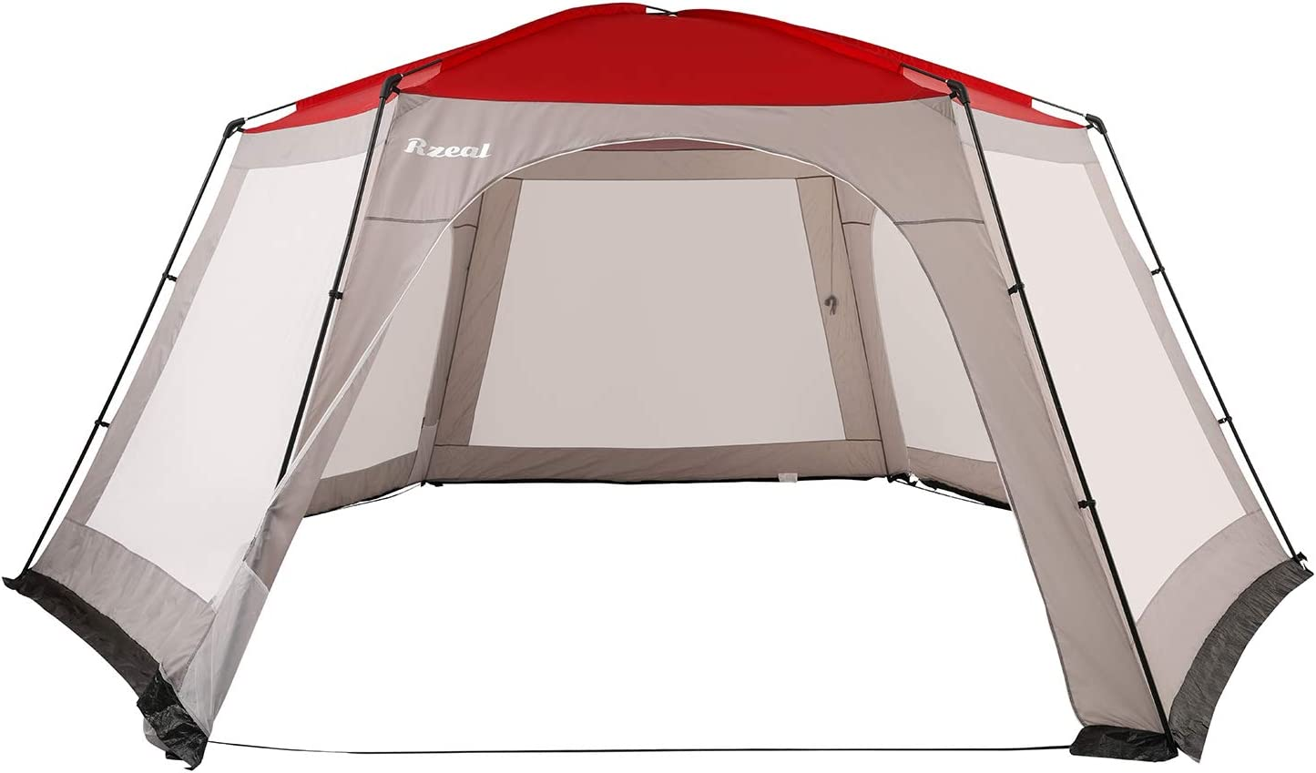 Reabeam Screen House Camping Tent, Canopy Gazebos 10-15 Person for Patios, Ultralight Sun Shelter Garden Tent, Dome Tent for Swimming Pool Large Oversize 19'×19'