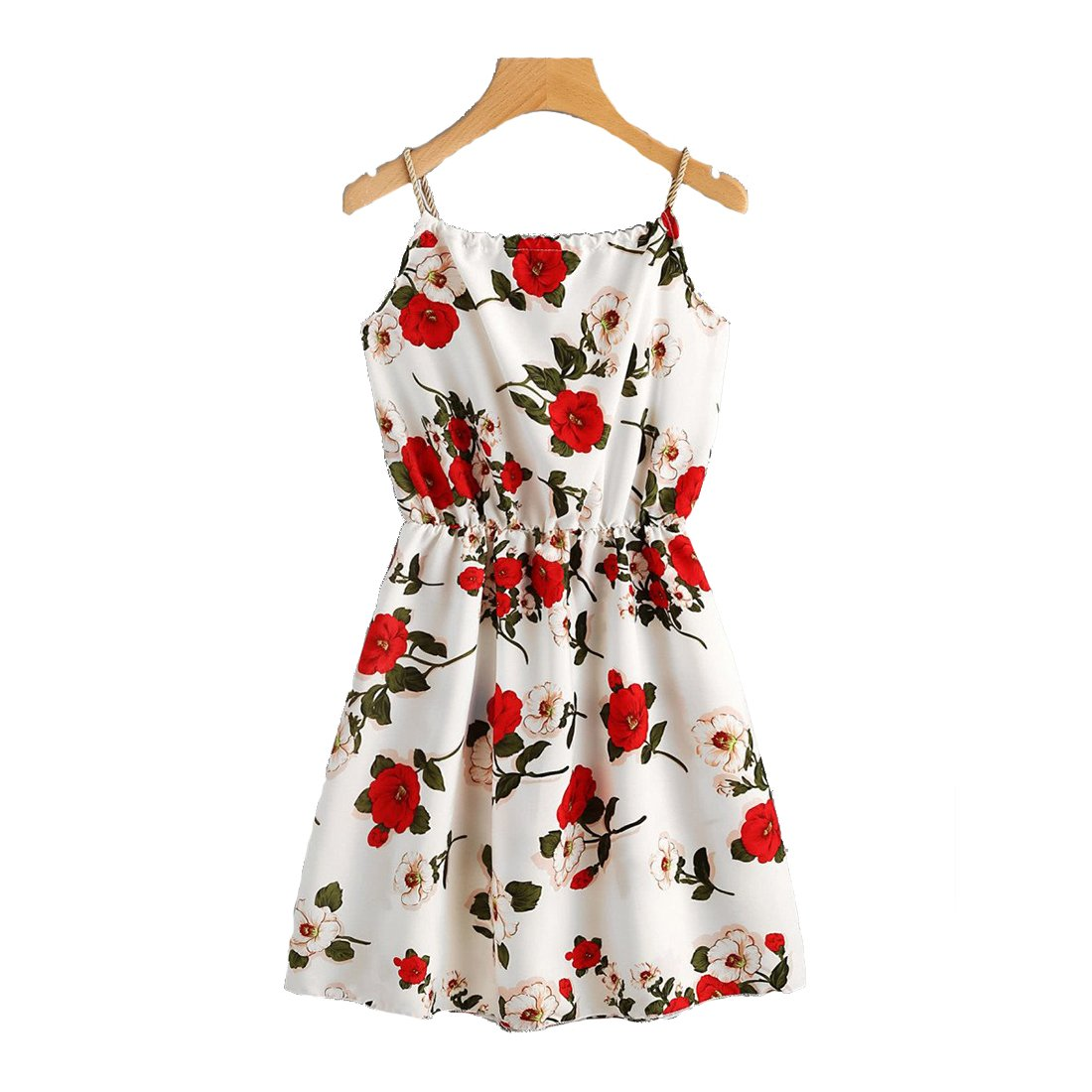 8aae5f84d9eae Rosebella Floral Print Random Self Tie Cami Dress: Amazon.in: Clothing &  Accessories