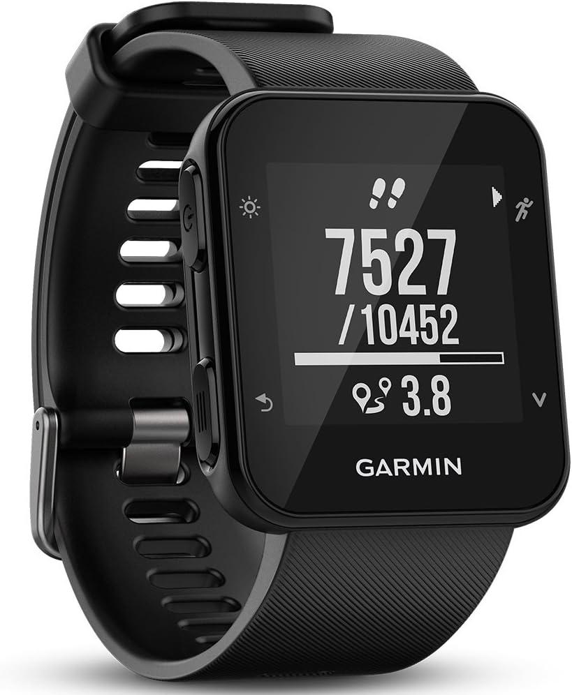 Garmin Forerunner 35- Reloj GPS con Monitor de frecuencia Cardiaca en la muñeca, Monitor de Actividad y notificaciones Inteligentes, Color Negro (Reacondicionado)