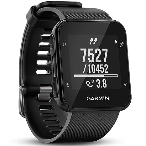 Garmin Forerunner 35- Reloj GPS con Monitor de frecuencia Cardiaca en la muñeca, Monitor de Actividad y notificaciones Inteligentes, Color Negro ...