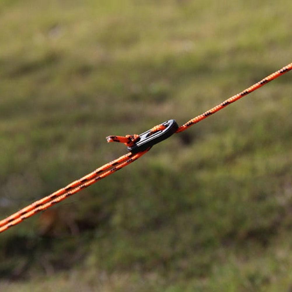 cuerda de cortavientos cuerda para toldo para tienda de campa/ña cuerda de nailon de 2,5 m para tienda de campa/ña cuerda fija Househome Cuerda de viento 4 unidades