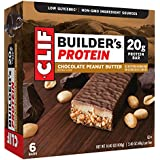 CLIF BUILDER'S - Protein Bar - Chocolate Peanut Butter - (2.4 Ounce Non-GMO Bar, 6 Count)