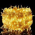 100m 500LED Catena di luci a LED in filo di rame - impermeabile Presa ideale per decorazioni natalizie per interni esterni feste di Natale ecc luce bianca calda [Classe di efficienza energetica A+]