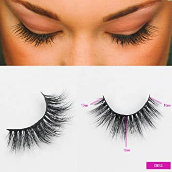 636d39a960e Amazon.com : Sassina 3D Mink Lashes Mink Eyelashes Natural False Eyelashes  1 Pair Handmade Fake Eye Lashes Extension For Beauty Makeup DM34 : Beauty