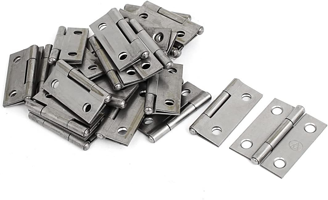 "Cupboard Showcase Door Toolbox Iron Hinge Silver Gray 1.5/"" Long 40pcs"