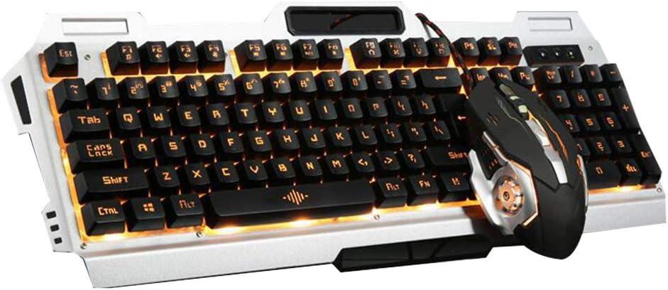Cdrox Wired Keyboard RGB del contraluz del ratón Kit mecánico Tocar USB Gaming Keypad Ratones del Ordenador de Ajuste: Amazon.es: Hogar