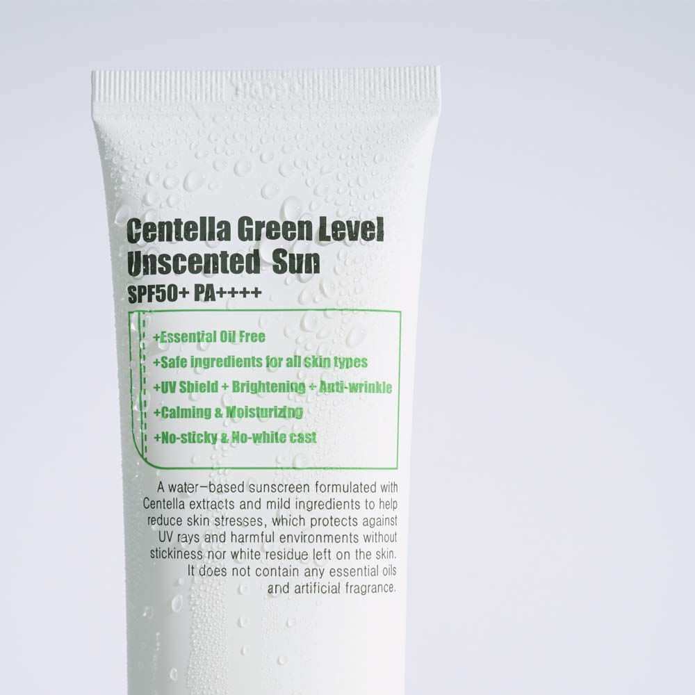 PURITO Centella Green Level Unscented Sun SPF50+ PA++++ 60ml / 2 fl.oz EWG All Green Ingredients, 100%, Cica care, UVA1,2 UVB, Broad spectrum,Lightweight,Sensitive skin,essential oil free by PURITO