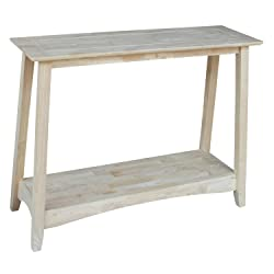 International Concepts OT-4S Bombay Sofa Table, Unfinished