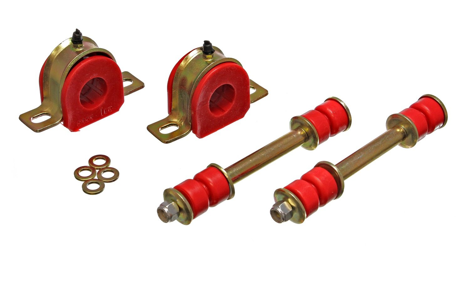Energy Suspension 3.5190R GM 1-1//8 GREASEABLE SWAY BAR SET