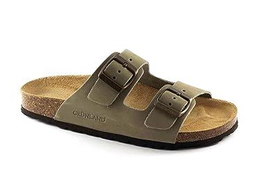 Grünland VOLUNTAD CB0003 zapatillas de color caqui dama hebillas de cuero Birk 41 rGjlYwp