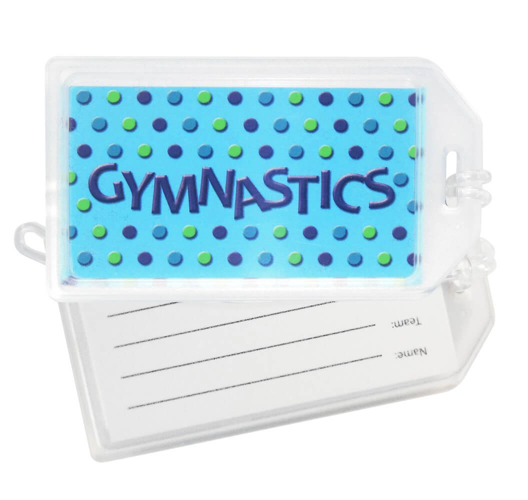 Gymnastics Luggage Tag Set of 2 Luggage Tags