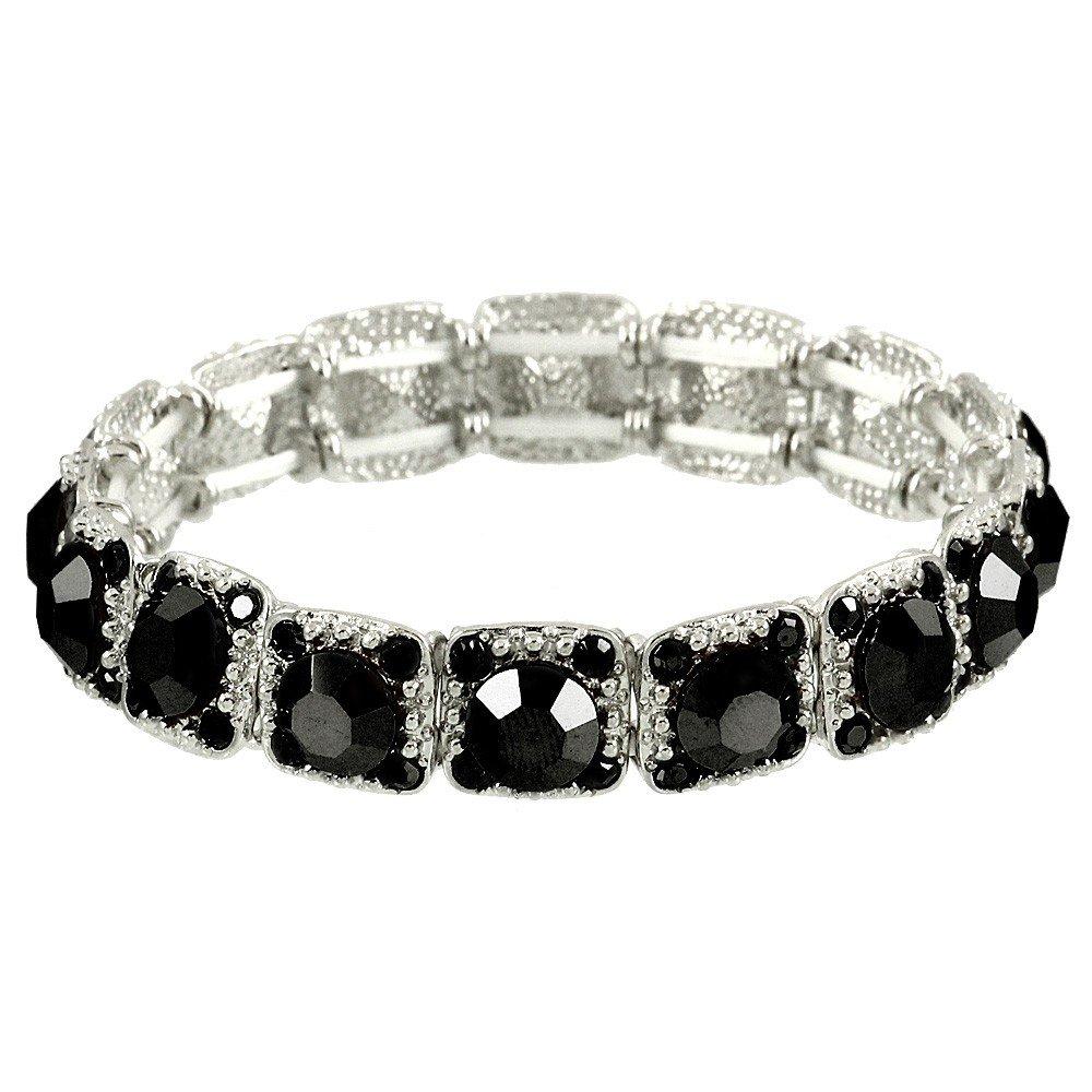 Falari Crystal Stretch Bracelet Wedding Bracelet Gift Box Included 10-B1534-BD