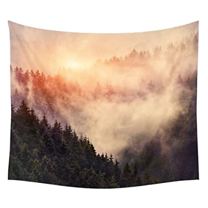Patgoal Abstract Forest Reflection Mandala Bohemian Tapestry Wall Hanging Throw Wall Decor Tapestries
