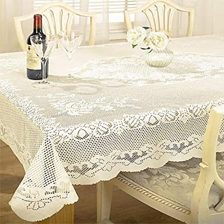 Delicieux Emma Barclay Chantal Lace Woven Tablecloth, Cream, 50 X 70 Inch