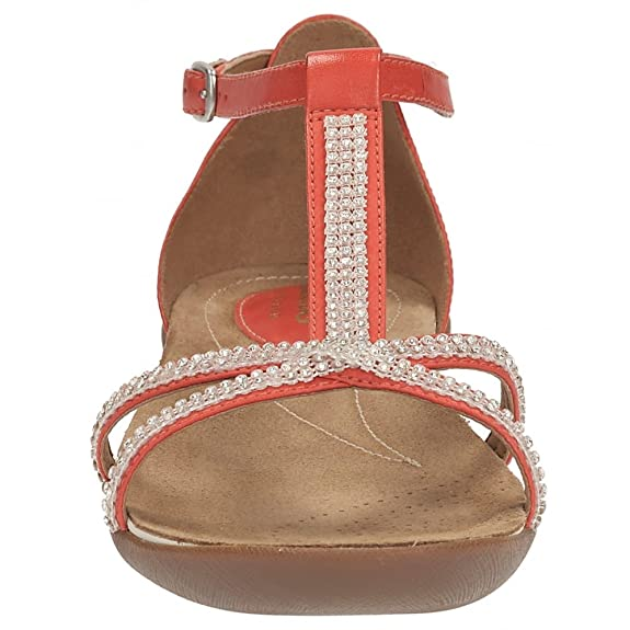 bb81af40d4861 Clarks Raffi Star Womens Casual Sandals 9 Grenadine Leather  Amazon.co.uk   Shoes   Bags