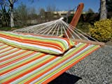 Petra Leisure Premium Quilted Spring Color, Double Padded Hammock Bed w/Pillow. 2 Person Bed. 425 LB Capacity. STAND NOT INCLUDED