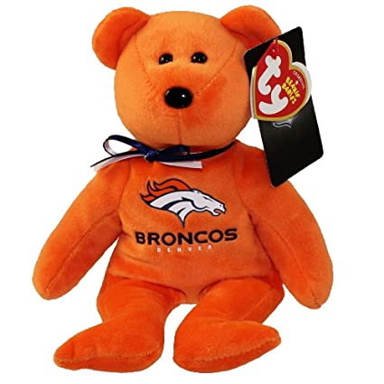 Image Unavailable. Image not available for. Color  Denver Broncos NFL TY  Beanie Baby Teddy Bear ... 649bafa4a