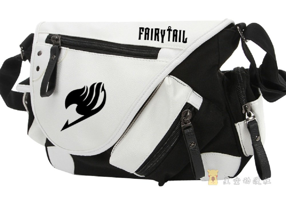 chic Siawasey Fairy Tail Anime Natsu Dragneel Cosplay Backpack Messenger Bag Shoulder Bag
