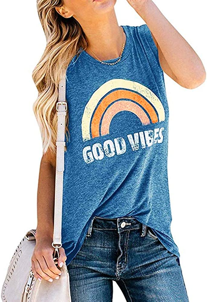Womens Tank Tops Short Sleeve T Shirts Summer Casual Loose Tunic Blouses
